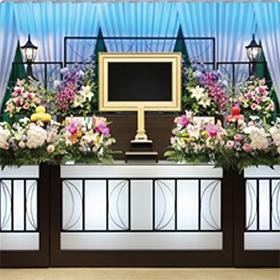 50名までの家族葬 祭壇一例(例:函南葬祭会館)